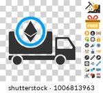 ethereum delivery truck icon... | Shutterstock .eps vector #1006813963