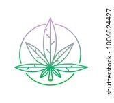 graphic line art style weed... | Shutterstock .eps vector #1006824427