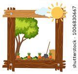 wooden frame template with... | Shutterstock .eps vector #1006830667