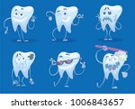 vector set of cartoon images of ... | Shutterstock .eps vector #1006843657