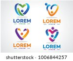 love people  logo set template... | Shutterstock .eps vector #1006844257