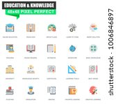 modern flat online education... | Shutterstock .eps vector #1006846897