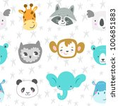 seamless vector pattern with... | Shutterstock .eps vector #1006851883