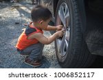 cute small child playing and... | Shutterstock . vector #1006852117