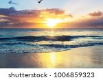 scenic colorful sunset at the... | Shutterstock . vector #1006859323