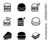 cheeseburger icons. set of 9... | Shutterstock .eps vector #1006864987