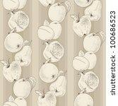 vector vintage seamless pattern ... | Shutterstock .eps vector #100686523