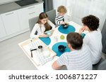 high angle view of loving...   Shutterstock . vector #1006871227