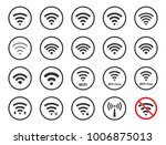 wifi signs and icons  wireless... | Shutterstock .eps vector #1006875013