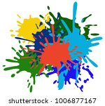 colorful ink splashes. | Shutterstock .eps vector #1006877167