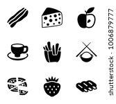 tasty icons. set of 9 editable... | Shutterstock .eps vector #1006879777