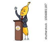 vector cartoon character  ... | Shutterstock .eps vector #1006881187