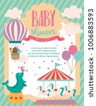 baby shower party invitation... | Shutterstock .eps vector #1006883593