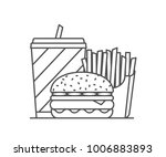 fast food line icon   drink ... | Shutterstock .eps vector #1006883893
