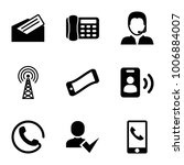 contact icons. set of 9... | Shutterstock .eps vector #1006884007