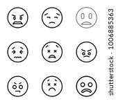 unhappy icons. set of 9... | Shutterstock .eps vector #1006885363