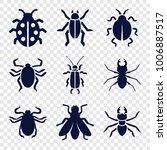 beetle icons. set of 9 editable ... | Shutterstock .eps vector #1006887517