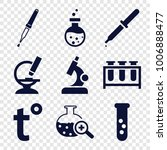 laboratory icons. set of 9... | Shutterstock .eps vector #1006888477