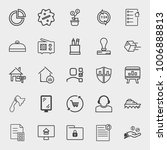 business outline vector icon... | Shutterstock .eps vector #1006888813