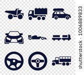 automobile icons. set of 9... | Shutterstock .eps vector #1006889833