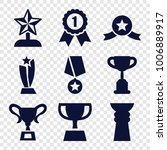 contest icons. set of 9... | Shutterstock .eps vector #1006889917
