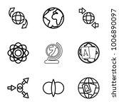 orbit icons. set of 9 editable... | Shutterstock .eps vector #1006890097