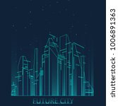 future city skyline... | Shutterstock .eps vector #1006891363