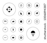 editable vector speed icons ... | Shutterstock .eps vector #1006894387