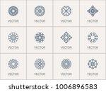 linear ornamental logo... | Shutterstock .eps vector #1006896583