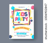 kids party flyer or banner... | Shutterstock .eps vector #1006902847