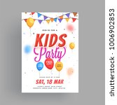 kids party flyer or banner... | Shutterstock .eps vector #1006902853