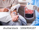 patient getting blood... | Shutterstock . vector #1006904107