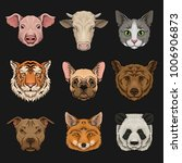 wild and domestic animals set ... | Shutterstock .eps vector #1006906873