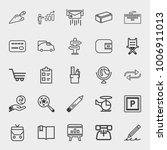 business outline vector icon... | Shutterstock .eps vector #1006911013