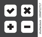flat checkmark  cross and plus  ...   Shutterstock .eps vector #1006912717