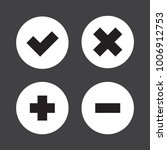flat checkmark  cross and plus  ...   Shutterstock .eps vector #1006912753