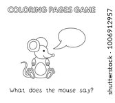 funny mouse kids learning game. ... | Shutterstock .eps vector #1006912957