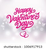happy valentines day typography ... | Shutterstock .eps vector #1006917913