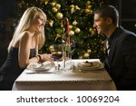 couple at restaurant on dinner... | Shutterstock . vector #10069204