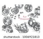natural organic pomegranate ... | Shutterstock .eps vector #1006921813