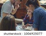 working people in the loft | Shutterstock . vector #1006925077
