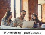 young people at work indoors | Shutterstock . vector #1006925083