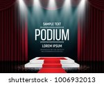 podium with curtain and red... | Shutterstock .eps vector #1006932013