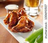 Bbq Buffalo Wings With Celery...