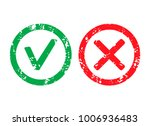 approved label and rejection... | Shutterstock .eps vector #1006936483
