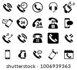 black phone vector icons... | Shutterstock .eps vector #1006939363