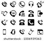 black phone vector icons... | Shutterstock .eps vector #1006939363