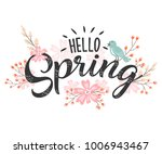 hello spring hand sketched... | Shutterstock .eps vector #1006943467