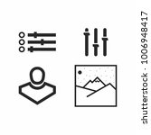 set of simple black icons   Shutterstock .eps vector #1006948417