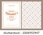 happy valentines day typography ... | Shutterstock .eps vector #1006952947